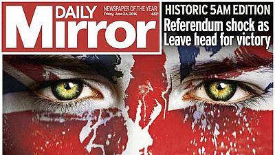 Las portadas del 'Brexit'