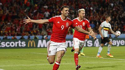 Gales vence a Bélgica 3-1 y se cuela en semifinales