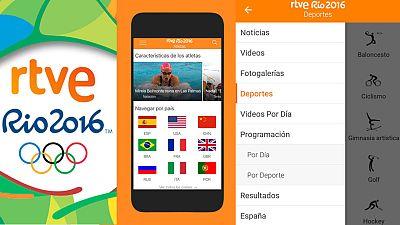 La nueva app de RTVE Río 2016