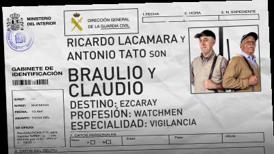 Ricardo Lacamara y Antonio Tato son Braulio y Claudio