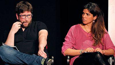 El eurodiputado Miguel Urbán y la secretaria general de Podemos en Andalucía, Teresa Rodríguez