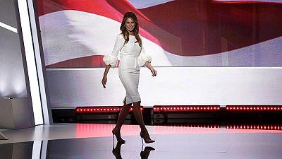 La nueva primera dama, Melania Trump, durante la Convención Republicana en julio en Cleveland.