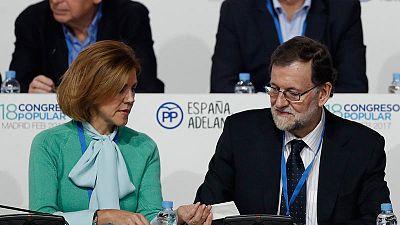 Mariano Rajoy y María Dolores de Cospedal, en la inauguración del congreso del PP en Madrid.