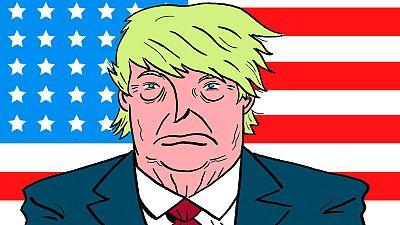 Fragmento de la portada de 'Presidente Trump', de Pablo Ríos