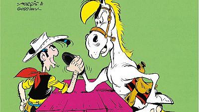 Lucky Luke y su inseparable Jolly Jumper