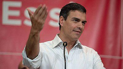 El exsecretario general del PSOE y aspirante a la reelección, Pedro Sánchez