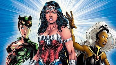 Fragmento de la portada de 'Superheroínas'