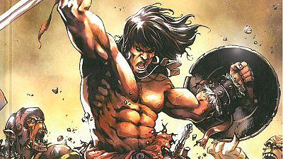 Fragmento de la portada de 'Conan el bárbaro: 35 aniversario'