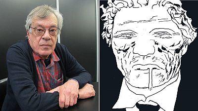 José Muñoz y detalle de la portada de Alack Sinner