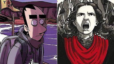 Fragmentos de las portadas de 'Kobane calling' y 'La virgen roja'