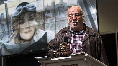 Josep Maria Martín Saurí agradeciendo el Gran Premio del Salón del Cómic de Barcelona