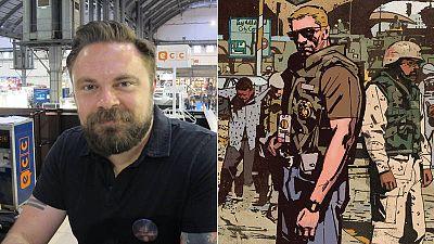 Mitch Gerads y una imagen de 'El Sheriff de Babilonia'