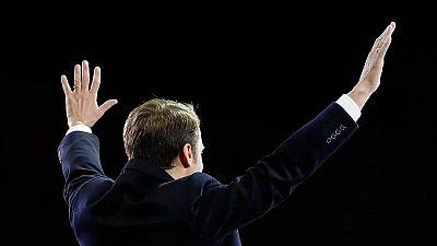Emmanuel Macron, celebrando su victoria como nuevo presidente de Francia