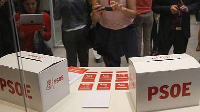 Urnas en la sede del PSOE en Ferraz.