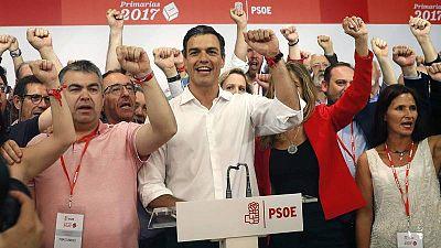 Pedro Sanchez, nuevo secretario general electo del PSOE.