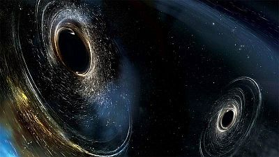 Representación artística de ondas gravitacionales.