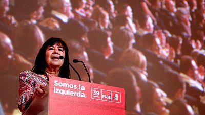 La nueva presidenta del PSOE, Cristina Narbona