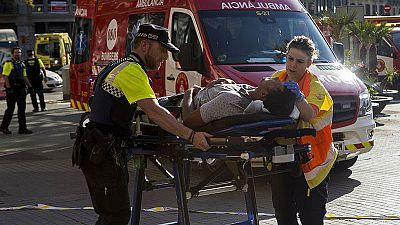 El atentado en Barcelona, en imágenes