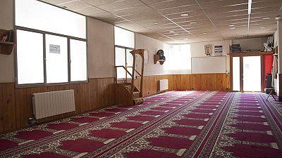 Vista del interior de la mezquita Islámica Annour de Ripoll