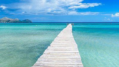 Preciosa playa de las Islas Bale