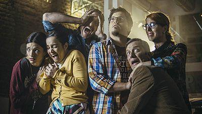Paco Churruca, Javier Zapater, Sabrina Praga, Rubén Tejerina y Ángela Chica, protagonistas de 'Neverfilms'
