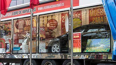 Camión con los premios de la 'Gorda de Navidad'