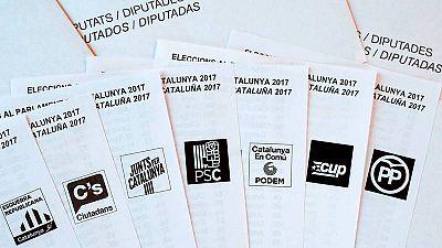 Las siete principales fuerzas que concurren a las elecciones en Cataluña.