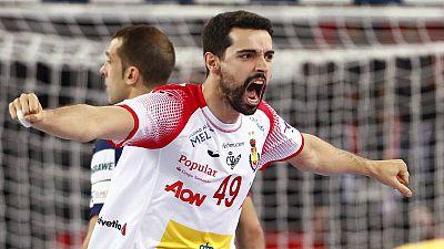 El extremo derecho de la selección española de balonmano, Ferrán Solé.