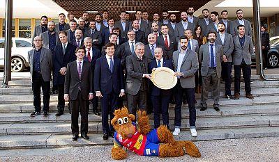 La selección española de balonmano, recibida en el Consejo Superior de Deportes.