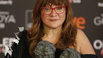 Isabel Coixet posa con los Premios Goya a la Mejor dirección y al Mejor guión adaptado por La Librería.