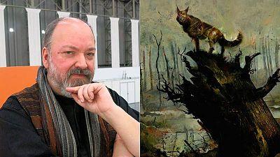 Dave McKean y una imagen de 'Black Dog'