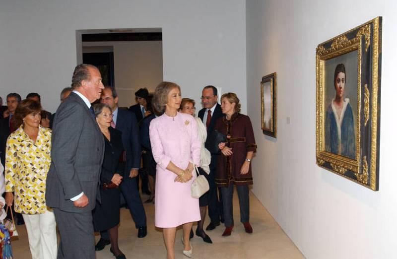 Los Reyes en la inauguración del Museo Picasso de Málaga el 27 de octubre de 2003.