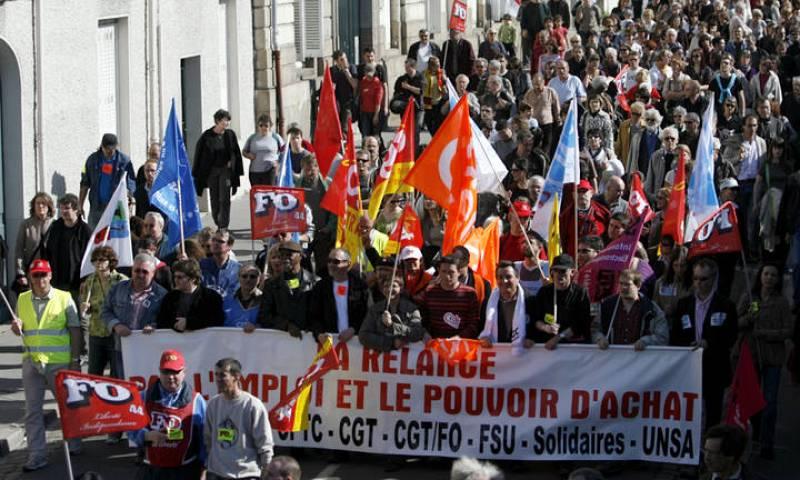 Manifestación en Nantes