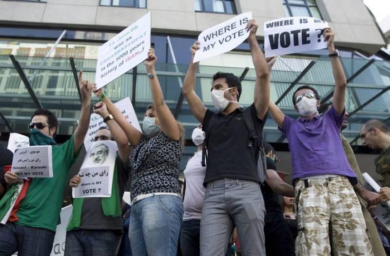 Los iran es protestan tambi n en el extranjero 6 for Resultados electorales mir
