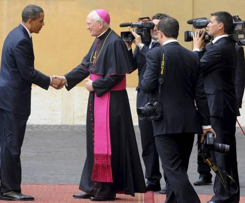 Obama es recibido en el Vaticano