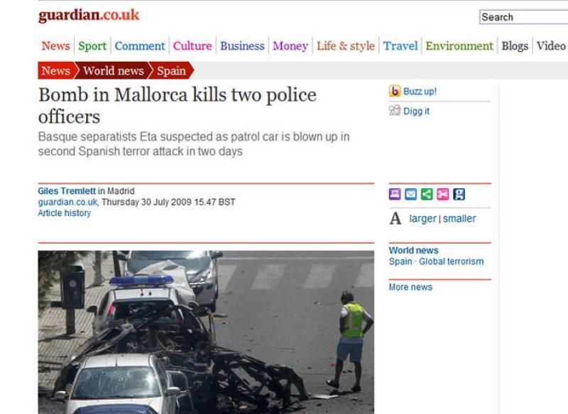 The Guardian: atentado de ETA