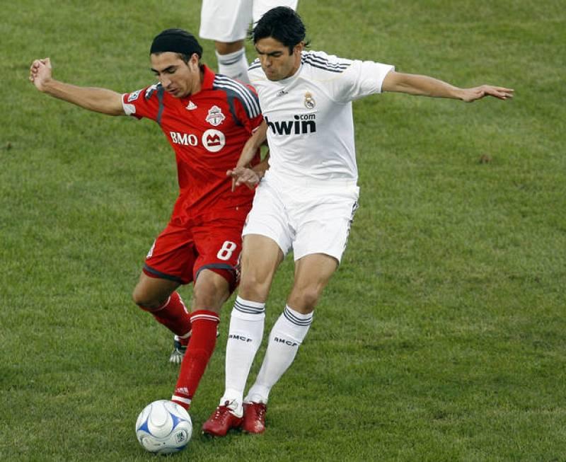 El brasileño Kaká durante un partido de la pretemporada en Toronto.
