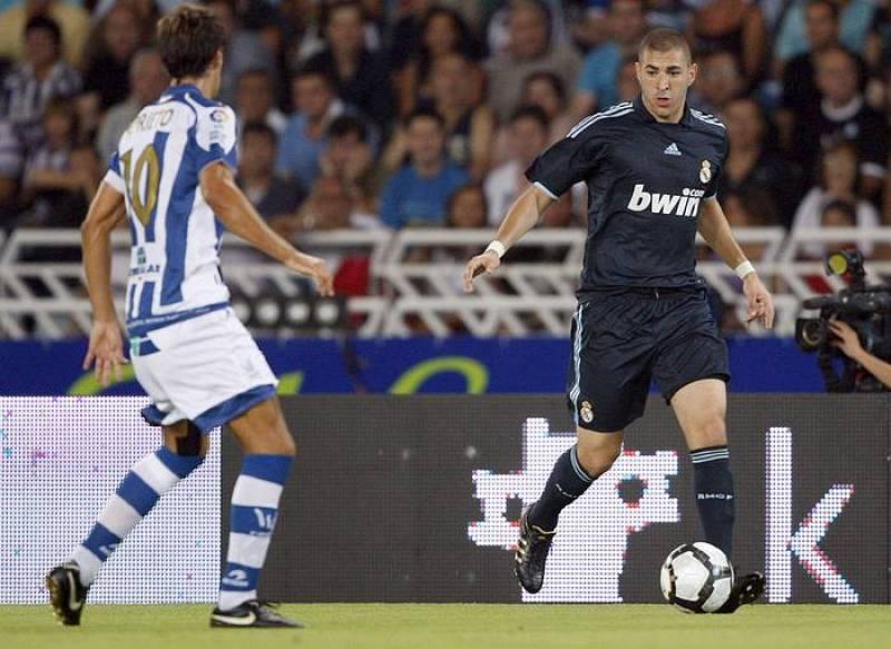 Karim Benzema firmó el primer gol en Anoeta.