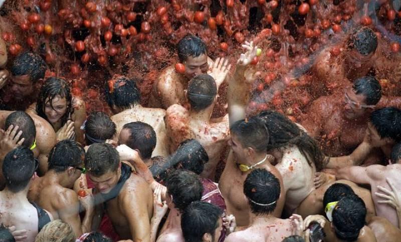 La batalla de tomates en Valencia