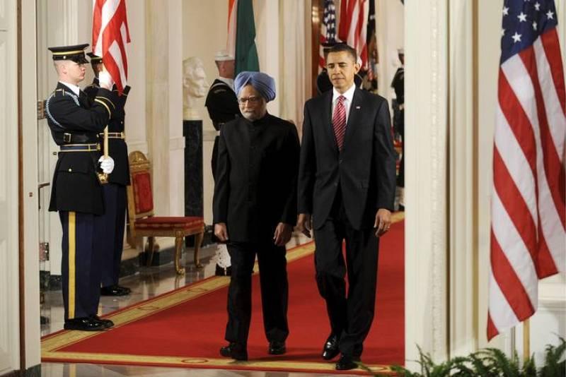 EL PRIMER MINISTRO DE LA INDIA, MANMOHAN SINGH, SE REÚNE CON BARACK OBAMA