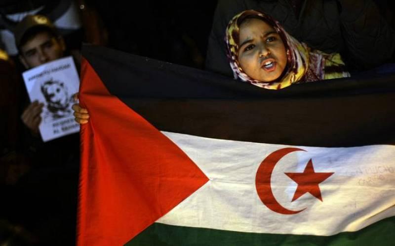 """Los manifestantes también reclaman la """"descolonización"""" del Sáhara Occidental."""