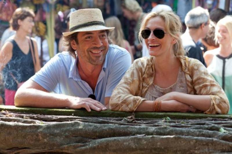 Javier Bardem y Julia Roberts protagonizan 'Eat, Pray, Love'