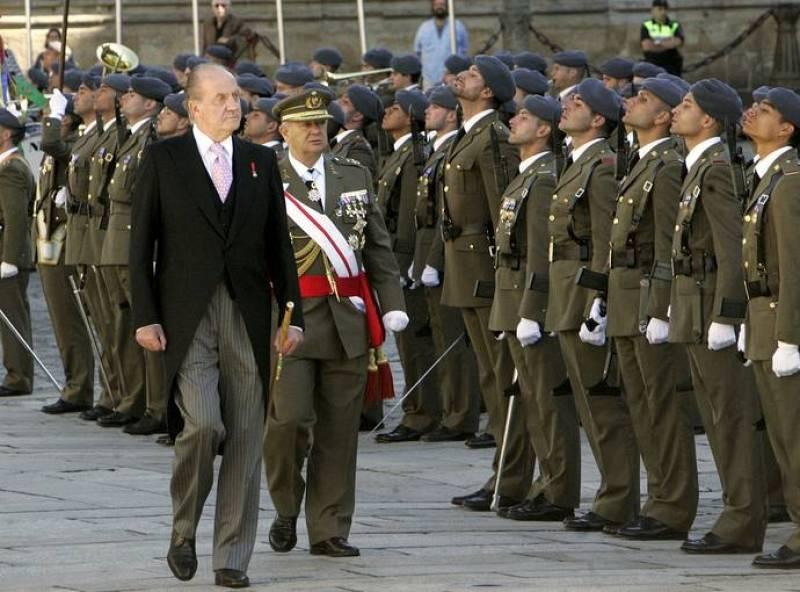 LOS REYES LLEGAN A LA CATEDRAL DE SANTIAGO PARA LA OFRENDA AL APÓSTOL