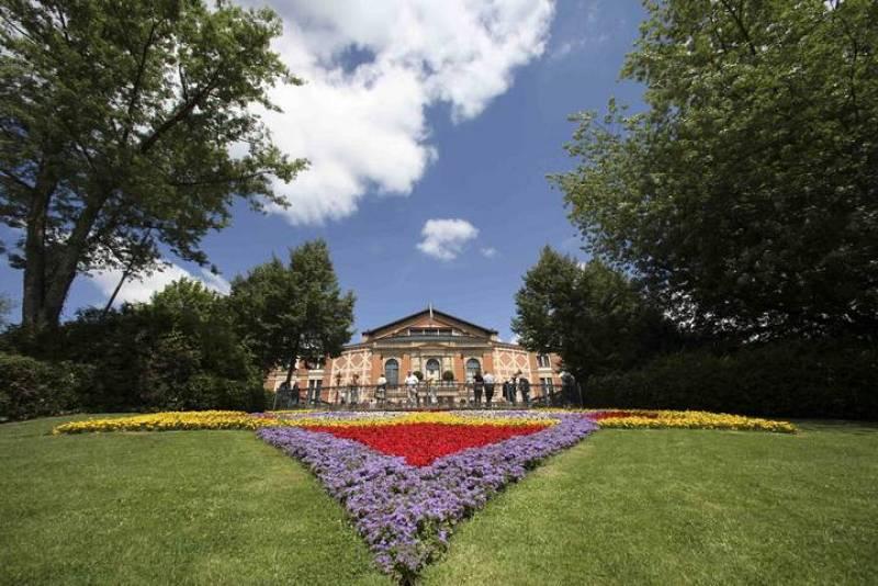 El teatro de la ópera de Gruener Huegel (Green Hill) en Bayreuth