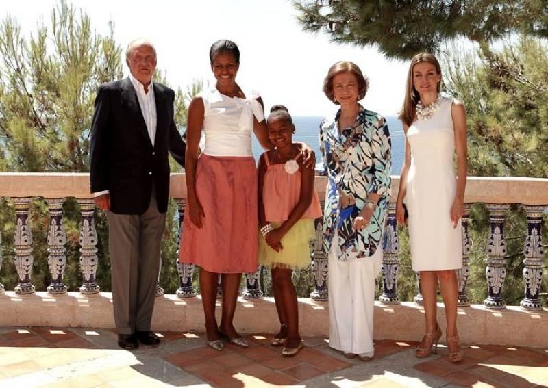 Michelle Obama y Sasha almorzaron con los Reyes y la Princesa Letizia antes de volver a Estados Unidos.