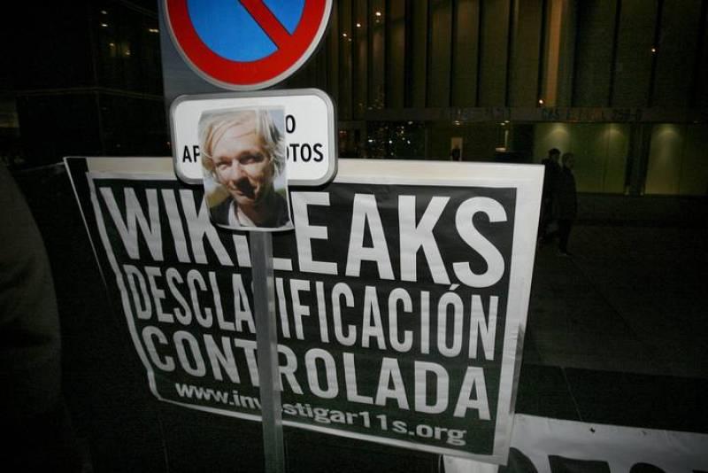 ACTO DE APOYO A JULIAN ASSANGE EN MADRID