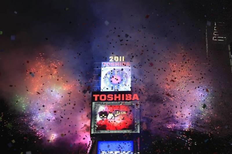 Times Square, en Nueva York, le ha dado la bienvenida al 2011