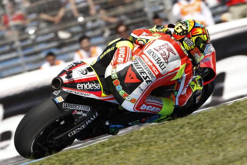 Rossi ha marcado unos tiempos discretos en los libres.