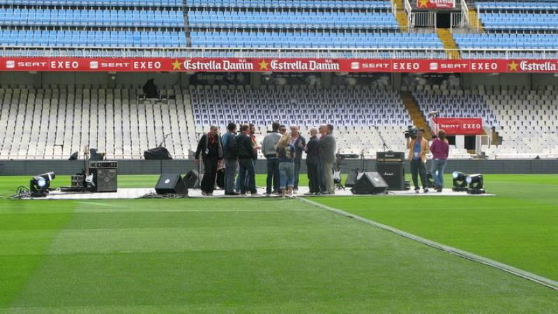 El círculo central de Mestalla acogerá las actuaciones.
