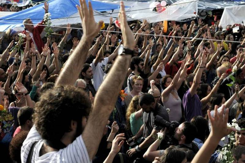La acampada en Sol ha acogido una nueva concentración de indignados